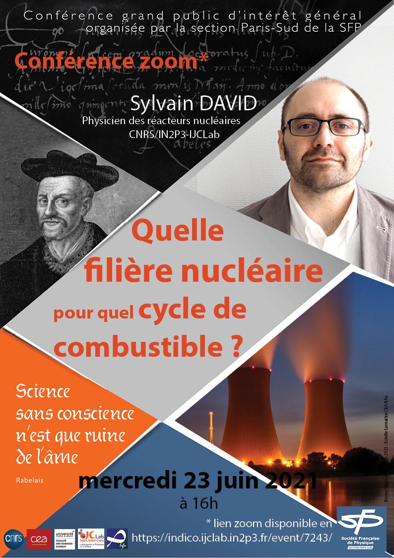 Sylvain David : Quelle filière nucléaire pour quel cycle de combustible ?